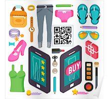 Proximity Shop Concept Isometric Poster