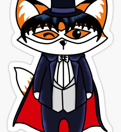 Tuxedo Fox Sticker