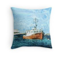 Asleep at the Moorings Throw Pillow