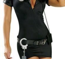 Police Girl Sticker