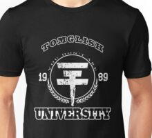 Tomglish University | WHITE TEXT Unisex T-Shirt