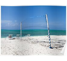 Beach volleyball. Poster