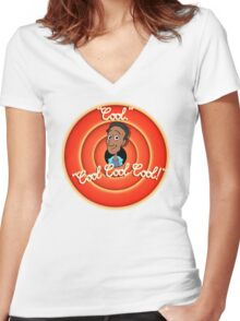 Merry Maladies Women's Fitted V-Neck T-Shirt