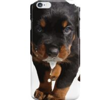 Cute Rottweiler Puppy Lapping Milk Vector iPhone Case/Skin
