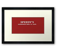 BBC Sherlock Speedy's Cafe - Inspired Logo Framed Print