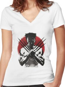 The Wolverine 2 Women's Fitted V-Neck T-Shirt