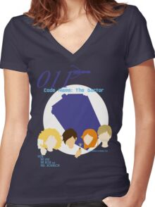 Code Name: The Doctor V.1 Women's Fitted V-Neck T-Shirt