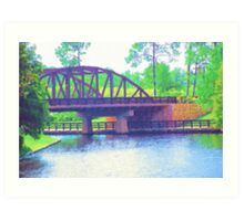 Watercolor Bridge at Walt Disney World Art Print