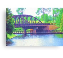 Watercolor Bridge at Walt Disney World Canvas Print