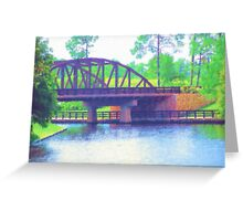 Watercolor Bridge at Walt Disney World Greeting Card