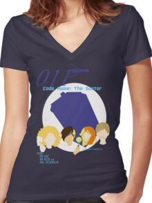 Code Name: The Doctor V.2 Women's Fitted V-Neck T-Shirt
