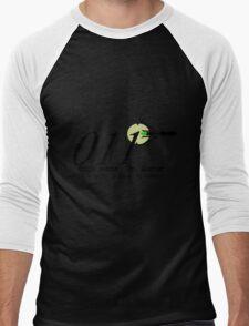 011 Black Men's Baseball ¾ T-Shirt