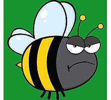 Angry bee Photographic Print
