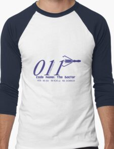 011 Blue Men's Baseball ¾ T-Shirt