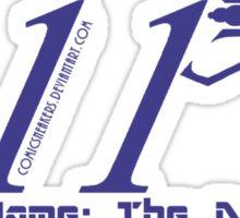 011 Blue Sticker
