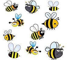 Bumblebees Photographic Print