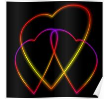 Glowing Hearts Poster