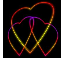 Glowing Hearts Photographic Print