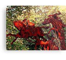 Ichabod and the Headless Horseman Sculpture, October 2009, Sleepy Hollow NY Metal Print