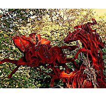 Ichabod and the Headless Horseman Sculpture, October 2009, Sleepy Hollow NY Photographic Print