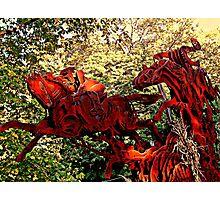 Ichabod and the Headless Horseman Sculpture, October 2009, Sleepy Hollow NY Photographic Print