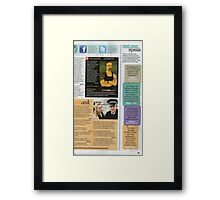 TV WEEK Magazine Drawing Callout Winner (image only) Framed Print