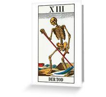 Tarot Card - Death Greeting Card