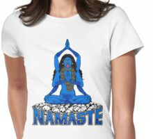 """Namaste ... bitches (or """"Going Back to Kali"""") Womens Fitted T-Shirt"""