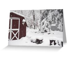 Winter Time In The Mountains Greeting Card