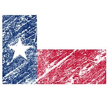 vintage flag of state of texas by nadil