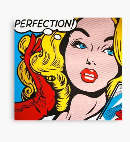 Perfection pop girl Canvas Print