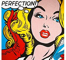 Perfection pop girl Photographic Print