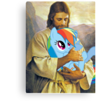 Jesus Loves Rainbow Dash Canvas Print