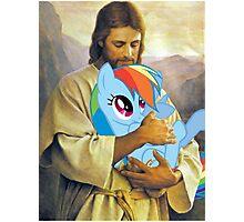 Jesus Loves Rainbow Dash Photographic Print