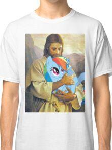 Jesus Loves Rainbow Dash Classic T-Shirt