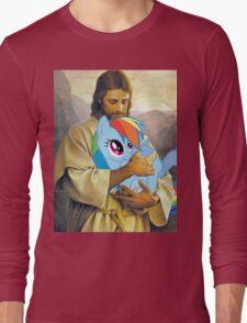 Jesus Loves Rainbow Dash Long Sleeve T-Shirt