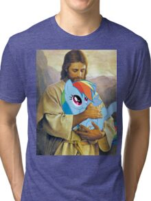 Jesus Loves Rainbow Dash Tri-blend T-Shirt
