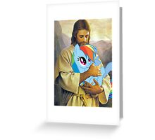 Jesus Loves Rainbow Dash Greeting Card