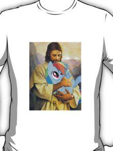 Jesus Loves Rainbow Dash T-Shirt