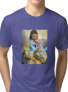 Jesus Loves Rainbow Dash Tri-blend T-Shirt