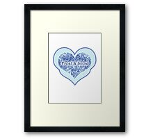 Love 'Frost and Snow' Framed Print