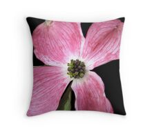 Pink Flower in bloom Throw Pillow
