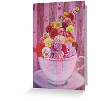Tasse à thé (Roses) Greeting Card