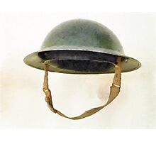 The British Brodie Helmet  Photographic Print