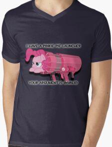 Pinkie Launcher Mens V-Neck T-Shirt