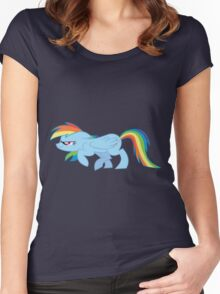 Rainbow Sneak Women's Fitted Scoop T-Shirt