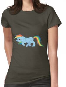 Rainbow Sneak Womens Fitted T-Shirt