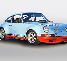 Porsche 911 T 'Gulf Racing Wrap' by DaveKoontz