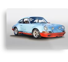 Porsche 911 T 'Gulf Racing Wrap' Metal Print