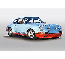 Porsche 911 T 'Gulf Racing Wrap' Photographic Print